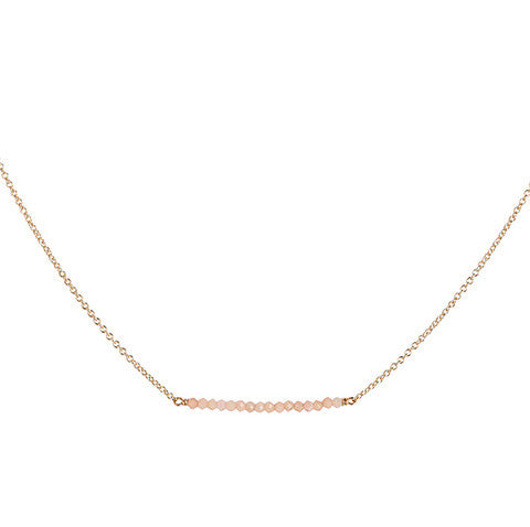 PINK OPAL BAR NECKLACE