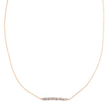 LEAH ALEXANDRA LABRADORITE BAR GEMSTONE NECKLACE