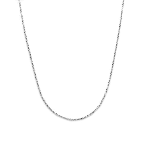 Box Chain Necklace | Silver