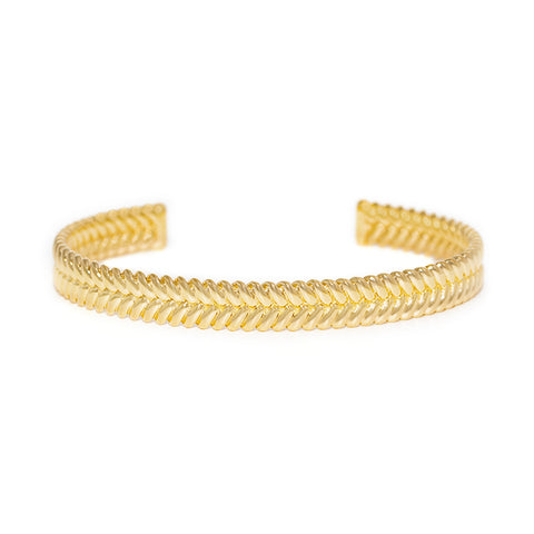 Braided Cuff | Gold