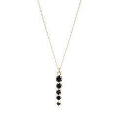 CELESTE BLACK ONYX NECKLACE
