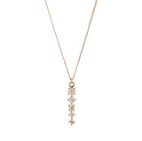 CELESTE MOONSTONE NECKLACE, gold, jewelry on white background