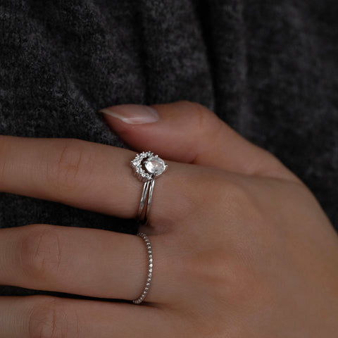 Compass Ring | White Topaz
