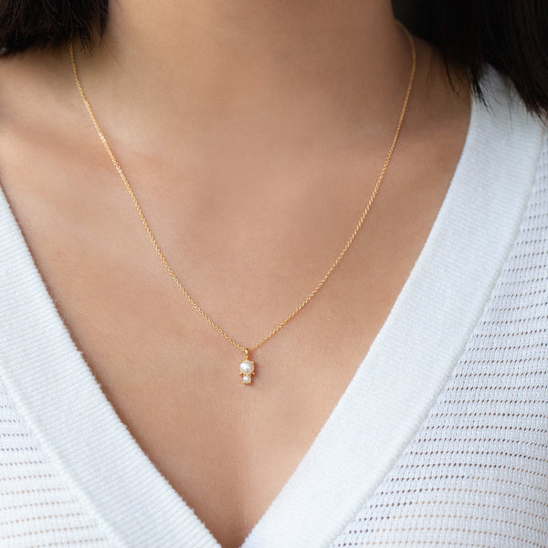 Duo Necklace | Pearl