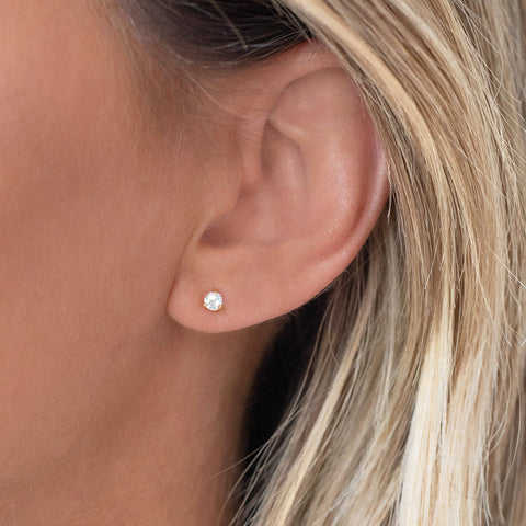 Element Studs | White Topaz