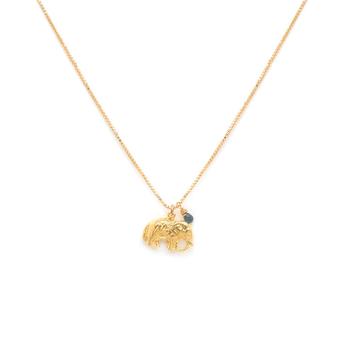 Elephant Necklace | Gold