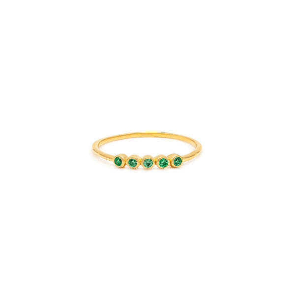 Ellipsis Ring | Emerald