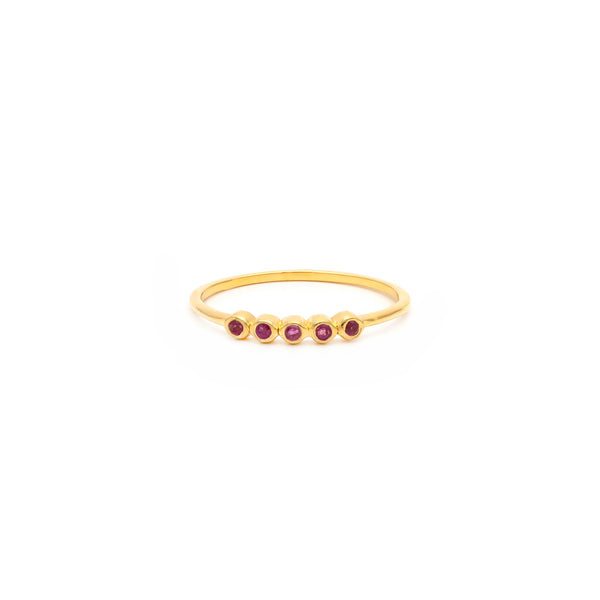 Ellipsis Ring | Pink Sapphire