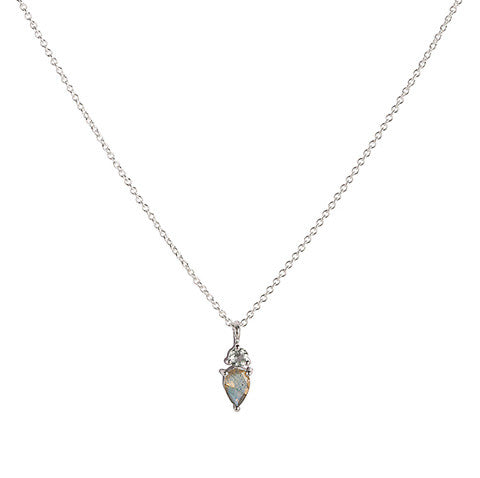 leah alexandra labradorite and aquamarine fling necklace