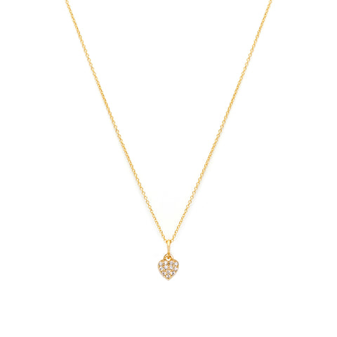 Heart Pave Necklace | CZ