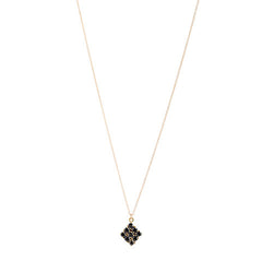 Honeycomb Necklace | Black Onyx