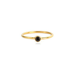 BLACK ONYX LATITUDE STACKING RING