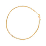 Layered Curb Anklet | Goldfill