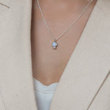 leah alexandra bijou moonstone white topaz necklace sterling silver
