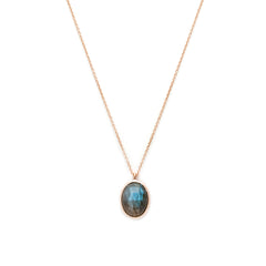 Cameo Necklace | Labradorite