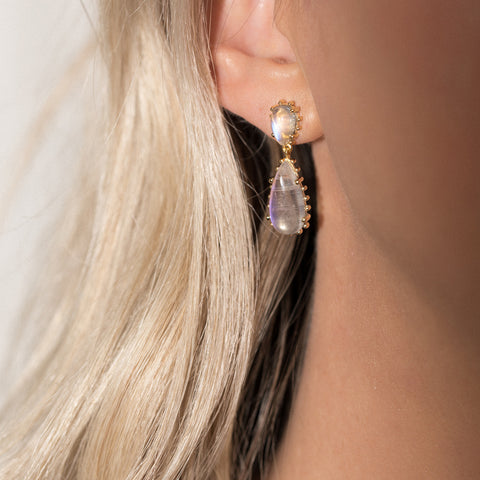 Leah Alexandra moonstone statement earrings