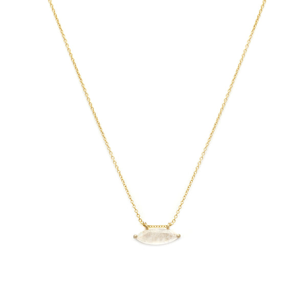 leah alexandra moonstone gold marquis necklace