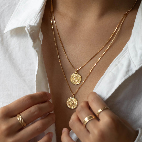 Mayan Necklace | Gold