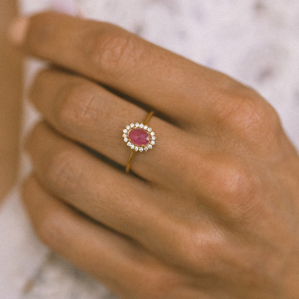 Mini Antiquity Ring | Pink Sapphire