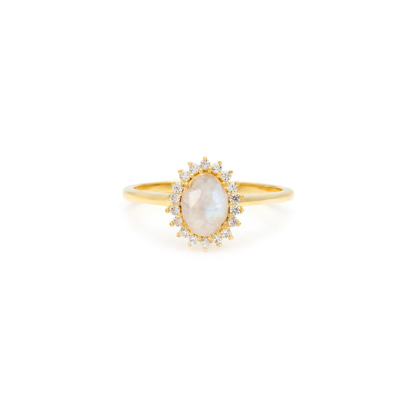 Mini Antiquity Ring | Moonstone