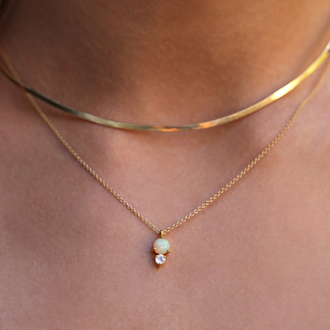 Opal Necklace | Moonstone