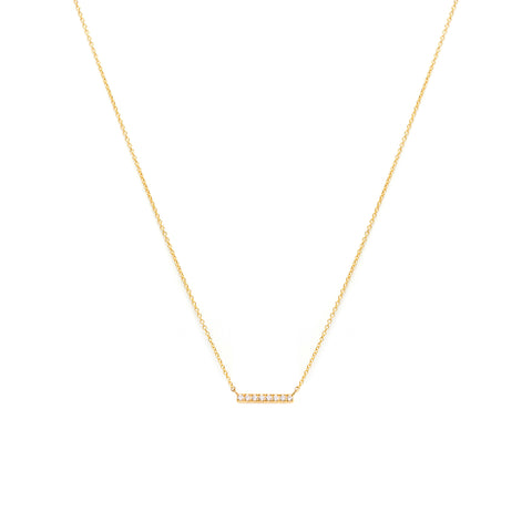 Pave Bar Necklace | CZ