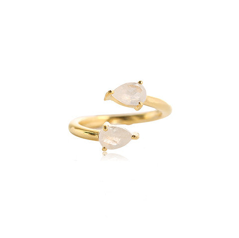 leah alexandra adjustable moonstone pear ring