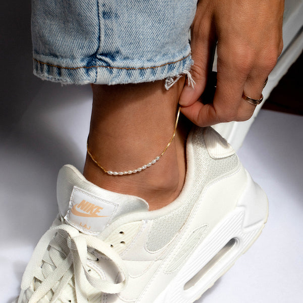 Pearl Bar Anklet | Goldfill