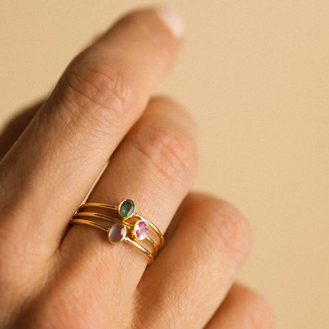 Petite Oval Ring | Moonstone
