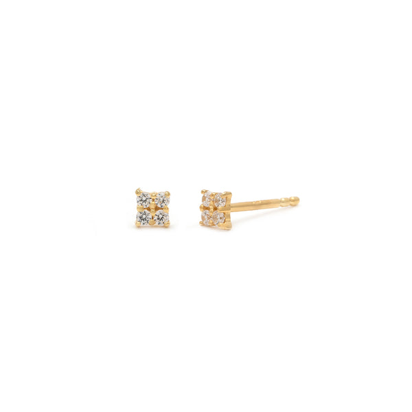 Quaditta Studs | 14k Gold & Diamond