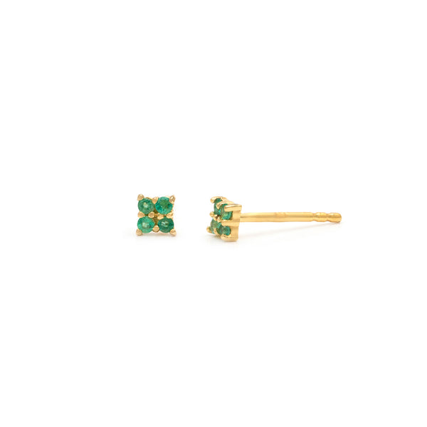 Quaditta Studs | 14k Gold & Emerald
