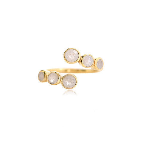 Leah Alexandra Channel Rosegold Ring