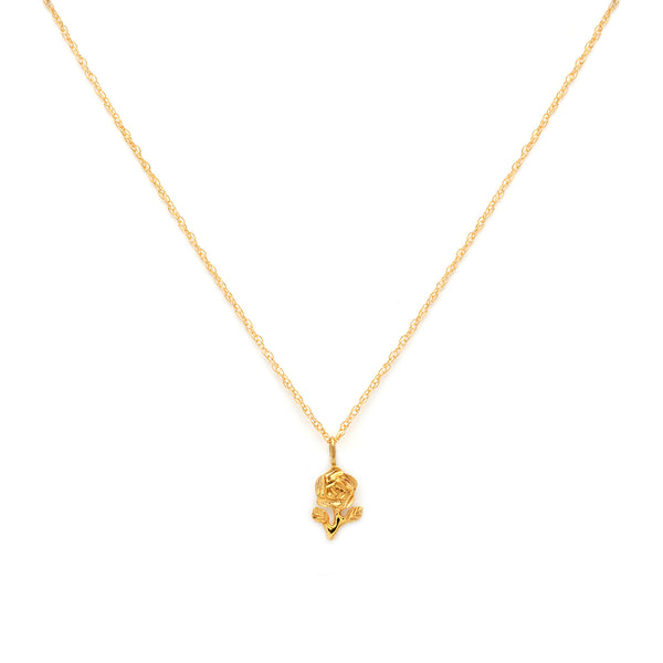 Rose Necklace | Gold