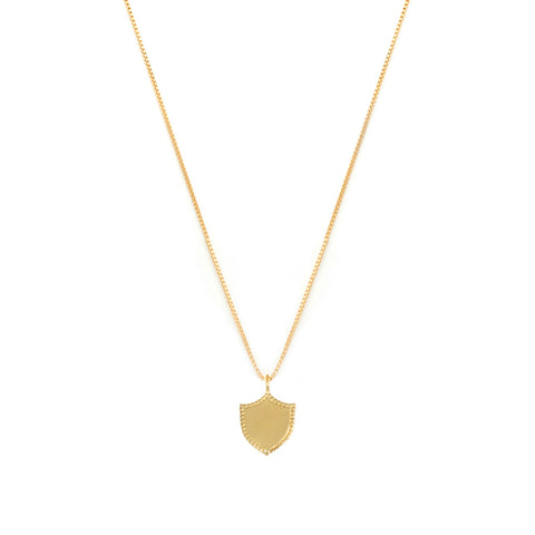 Shield Necklace | Gold