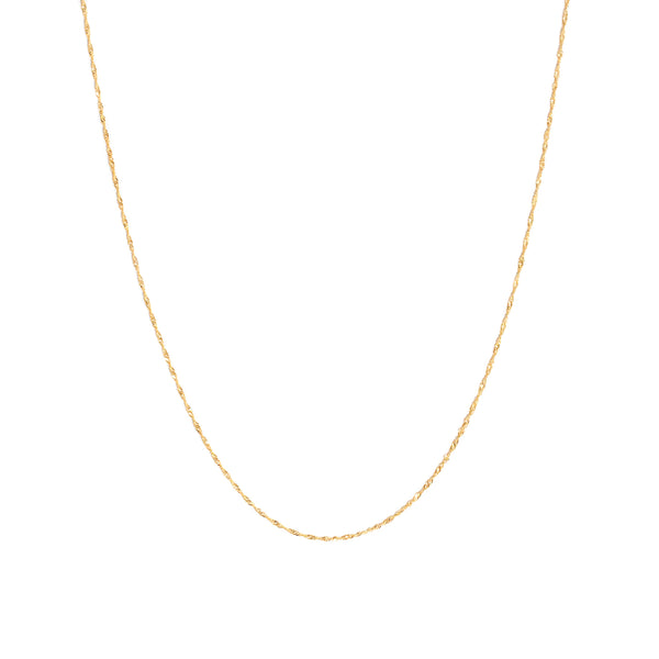 Singapore Chain Necklace | 10k Gold