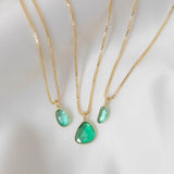 Sofia Slice Necklace | Emerald