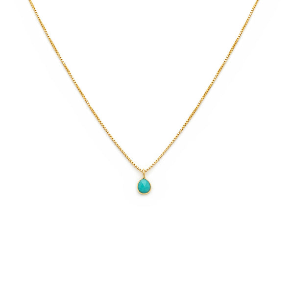 Sofia Slice Necklace | Turquoise