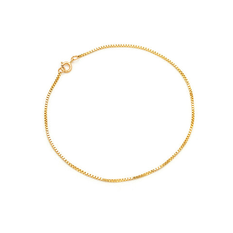 Box Chain Bracelet | 14k Gold