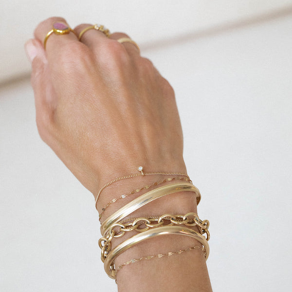 Curb Chain Bracelet | 14k Gold