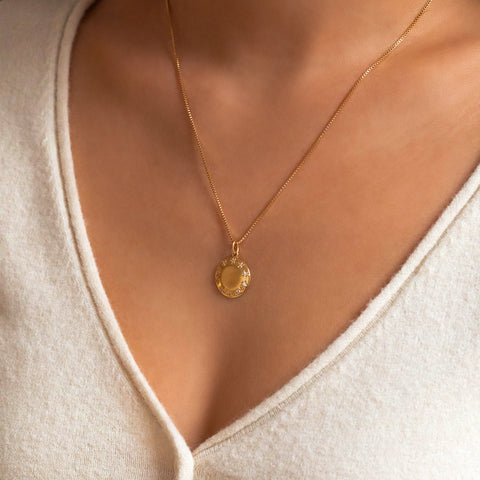 Stellar Coin Necklace | CZ