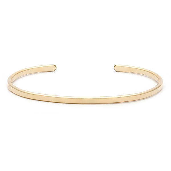 leah alexandra flat layering bangle gold filled