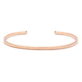 leah alexandra flat layering bangle rosegold filled