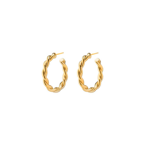 Twist Hoops | Gold