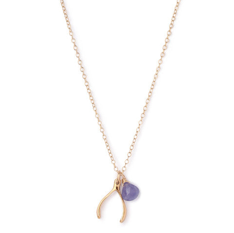 Wishbone Necklace | Tanzanite