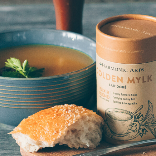 Golden Mylk Sweet Potato Curry Soup