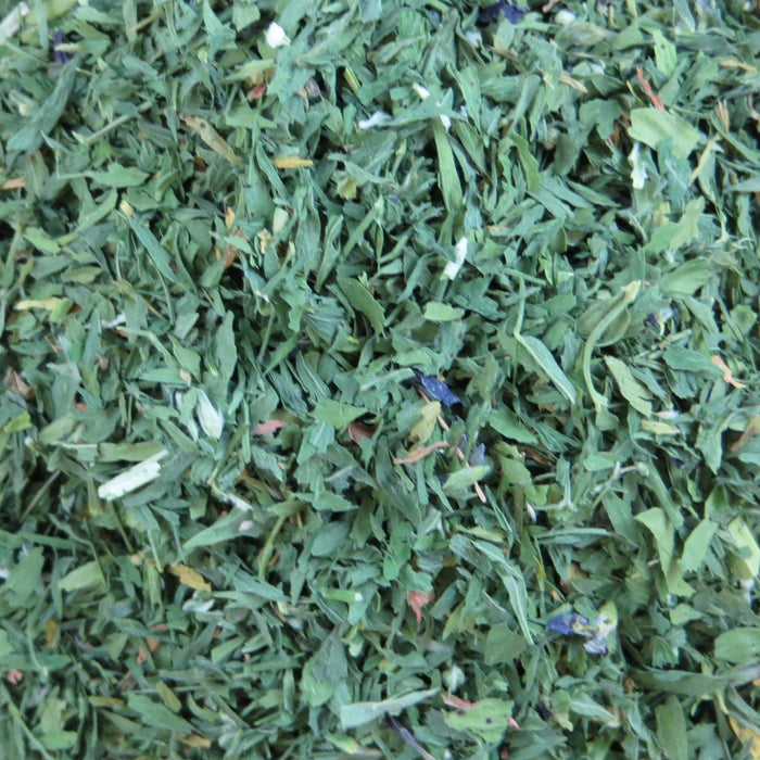 A closeup of loose Alfalfa Leaf
