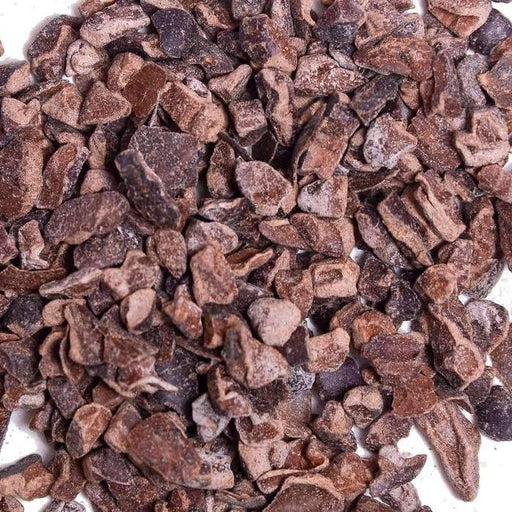 A closeup of Raw Cacao Nibs