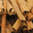 A closeup of loose Cinnamon (Cassia) Sticks