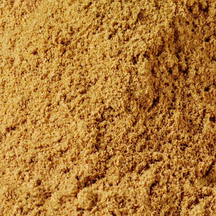 A closeup of loose Coriander Powder