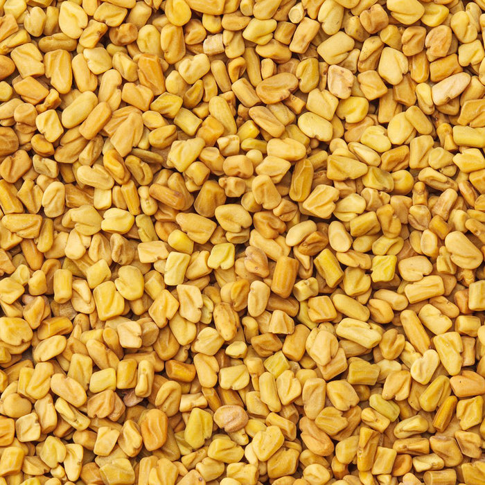 A closeup of loose Fenugreek Seed